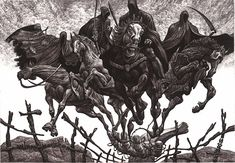 Julian Jordanov, Four horsemen of the Apocalypse (ex libris).