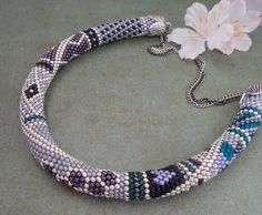 Prinzessin Budur Beaded crochet Necklace Halskette from Inspiration by DaWanda.com