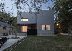 Thorax House stucco exterior