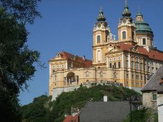 Melk Monastery, Melk, Austria   Via: http://daily-vienna.blogspot.com/2008/08/melk-abbey.html ...