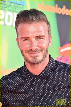 David Beckham & His Sons Get Drenched with Golden Slime at Kids' Choice Sports Awards! (Video) | david beckham drenched with golden slime 08 - Photo