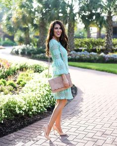 """1,126 Likes, 99 Comments - Naomi (Southern Sophisticated) (@naomi.noel) on Instagram: """"Ok this look is finally live #ontheblog. This showstopper Mint Lace Shift Dress is only $34. Yes!…"""""""