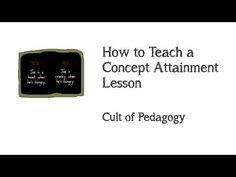 Check out this great video on the Concept Attainment Strategy  From Cult of Pedagogy More info here: http://www.ascd.org/ascd-express/vol4/420-silver.aspx