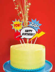 Cake - possible easy DIY for mason's b-day if we do super hero theme