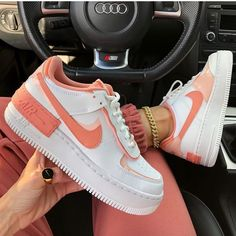 """Fashion Bomb Daily on Instagram: """"The ever popular Air Force 1 Shadow collection has dominated our Insta feeds this spring/summer season. This coral and peach toned version…"""""""