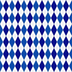 Blue Argyle Christmas Digital Paper