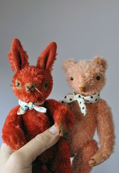 So cute...bear and bunny by Jennifer Murphy.
