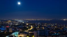 The Moon & The Lisbon City by Manuel Adrega on 500px