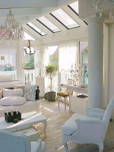 Cottage ♥ Light & Airy Living Room