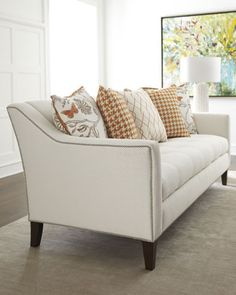contemporary tufted nailhead sofa