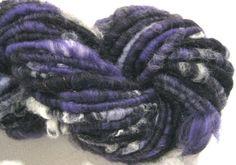 handspun yarn with glow in the dark fiber by SpinningWheelStudio, $35.00