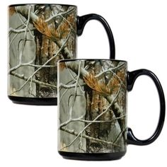 RealTree Open Field Camouflage - Camo & Black Ceramic Coffee Mugs - Diesel, Nfl Houston Texans, Hunting Camo, Country Girls, Country Life, Country Style, Country Decor, Camo Fashion, Realtree Camo