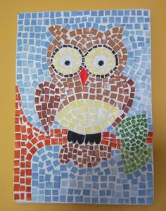 mosaico educação infantil - Pesquisa Google Mosaic Art Projects, Paper Mosaic, 4th Grade Art, Baby Clip Art, Roman Art, Art Lessons Elementary, Spring Art, Painting Lessons, Mosaic Patterns