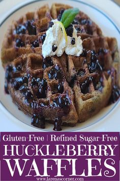 Gluten-Free Huckleberry Waffles Recipe