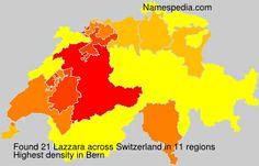 Surname Lazzara in Switzerland