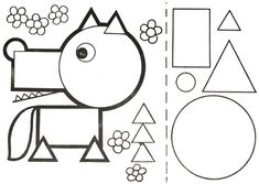formes loup Art Drawings For Kids, Drawing For Kids, Fun Activities For Kids, Math Activities, Mathematics Geometry, Shape Games, Circle Crafts, Shapes For Kids, Elementary Art