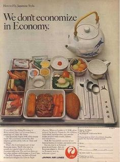 Japan Airlines Ad Economy Class