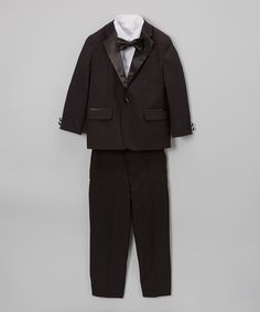 Look what I found on #zulily! Black Tuxedo Suit Set - Toddler & Boys by Nautica #zulilyfinds