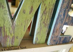 DIY Barnwood Letters - A Cultivated Nest