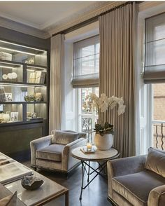 Cozy Neutral tone Sitting Area by Sophie Paterson Interiors