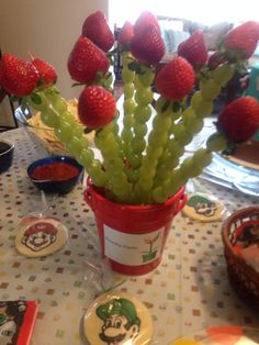 Piranha Plant Fruit Mario Birthday Party