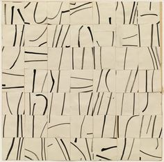Ellsworth Kelly - Brushstrokes cut into 49 squares and arranged by chance, MOMA 1951