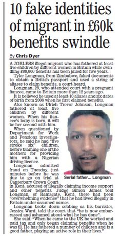 Fake Identity, British Passport, To Obtain, Cuttings, Britain, Father, Children, Pai, Young Children