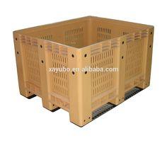 grid mesh plastic crate box