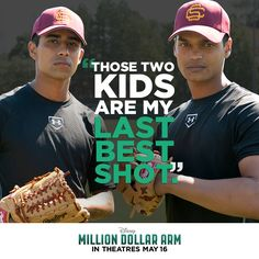 Million Dollar Arm was excellent! And Suraj Sharma looked great in a baseball uni! Disney Live, Disney Magic, Disney Stuff, Movies To Watch, Good Movies, Million Dollar Arm, Suraj Sharma, Hk Movie, Me On A Map