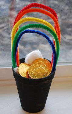 Pot of gold craft for preschoolers