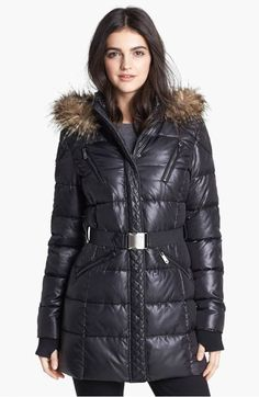 f72c238d4a14 Circus by Sam Edelman Faux Fur Trim Quilted Coat (Online Only)