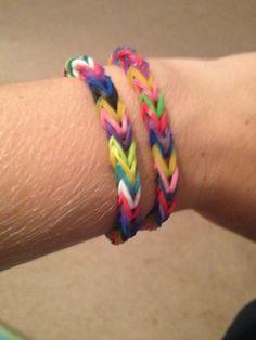 Rainbow loom rubber band bracelets- fishtail