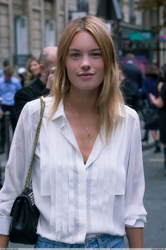 Camille Rowe Pourcheresse Chloé - Paris Fashion Week PAP SS14