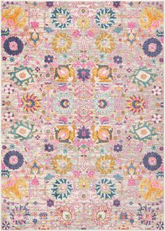 NEW: Flower Passion Silver Rug, a cheerful multi-coloured floral rug (machine-woven, polypropylene, 3 sizes) http://www.therugswarehouse.co.uk/modern-rugs3/passion-modern-rugs/flower-passion-silver-rug.html