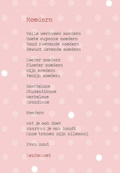 een-laag-kaart-a5-moeders-def Mommy Quotes, Life Quotes, Single Parenting, Family Love, Happy Mothers Day, Favorite Quotes, Poems, Mindfulness, Positivity