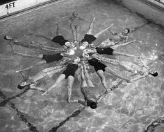 """Synchronized swimming with Mrs. C. at Central.  I can never listen to """"Carry on my Wayward Son"""" again."""
