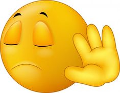 Illustration about Illustration of Talk to my hand gesture, smiley emoticon cartoon. Illustration of forbidden, avoid, business - 46948117 Funny Emoji Faces, Emoticon Faces, Silly Faces, Love Smiley, Emoji Love, Cute Emoji, Smiley Emoji, Images Emoji, Emoji Pictures