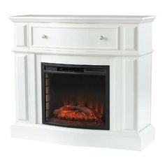 Electric fireplace in bleached linen 248 85 80 y at the home depot