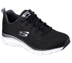 24080ad4f Make classic sporty style and comfort your own with the SKECHERS Fashion  Fit - Statement Piece shoe. Skech Knit mesh fabric upper in a lace up  sporty ...