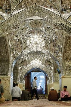 Dar-al- Ezzah Porch,Imam Reza shrine, Mashhad, Iran (Islamic Art)