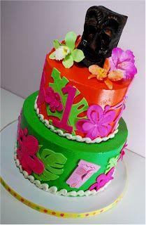 Cup a Dee Cakes Blog: Hawaiian Luau Birthday Cake
