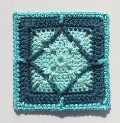 Northern Diamond Square - free crochet pattern by Torun Johansson