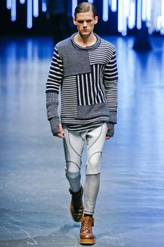 NEIL BARRETT, AW11: i am so nuts over this neil barrett look. the whacked out scuba leggings are a dream.