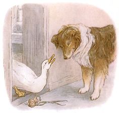 Illustration by Beatrix Potter for 'The Tale of Jemima Puddle-Duck'