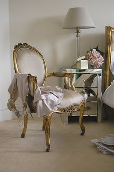 Gilded French Chair!