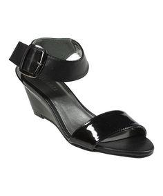 Loving this Black Emma Wedge Sandal on #zulily! #zulilyfinds