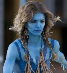 Full Body Paint Models in blue   Jake Sully full Na'vi costume