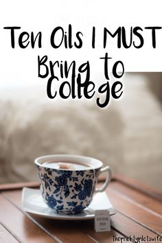 Ten oils I MUST bring to college // The Prickly Pilot's Wife