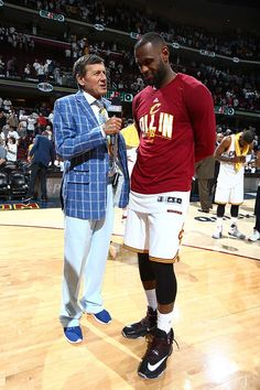 LeBron is interviewed by Craig Sager after their win 4/17/2016 against the Pistons!!!