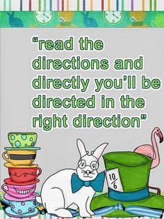Good one for kids who never read the directions!